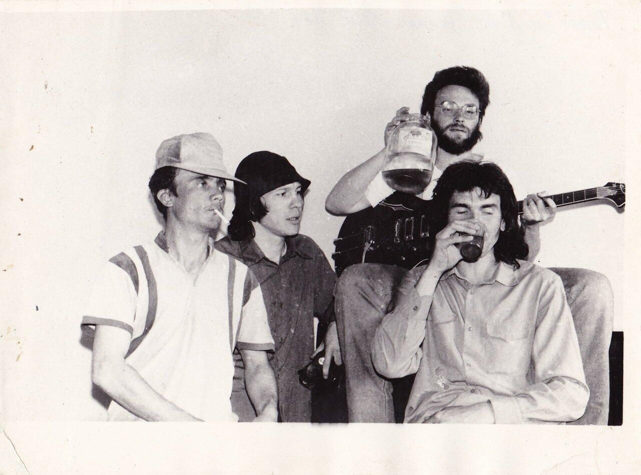 1992. С «Флиртами» перед концертом