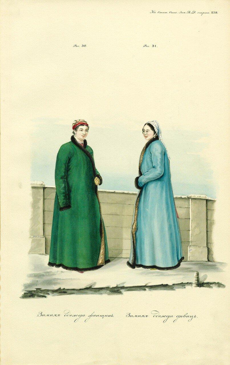 47. Зимняя одежда женщин и девиц