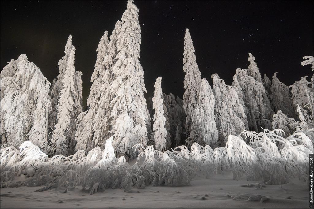 Обратная сторона хребта - снегопады на Урале
