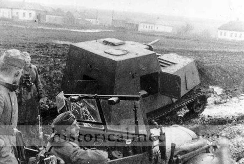 Брошенный бронированный трактор ХТЗ-16.