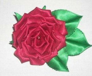 МК. Роза в технике канзаши 0_d5db2_3b6b0333_M