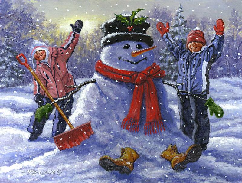 картинка новогодние забавы снежки место