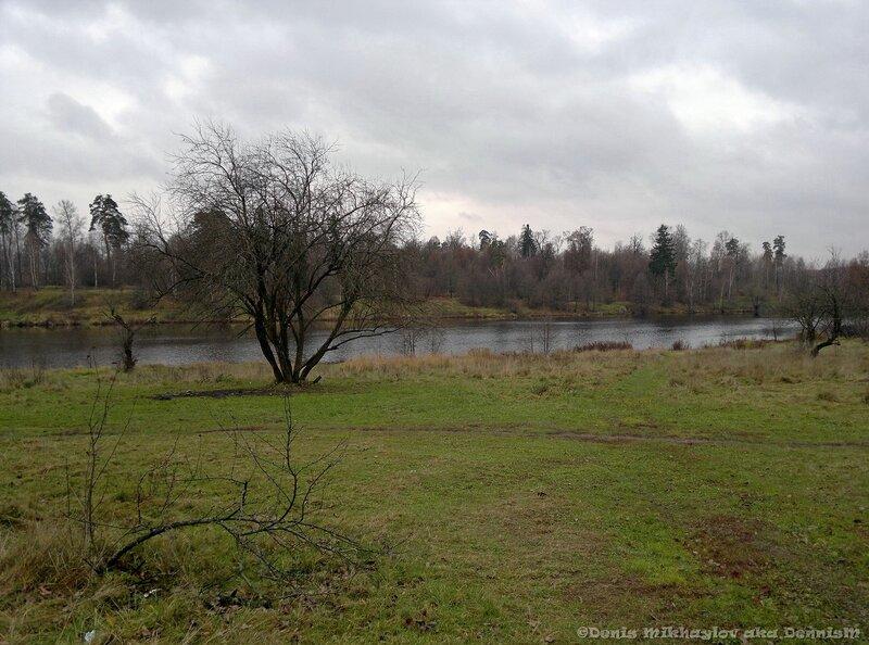 Барский пруд. Вид со стороны усадьбы Гребнево.