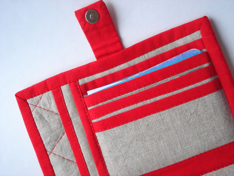 сшить кошелек из ткани