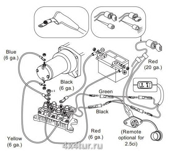 Схема подключения лебедки warn