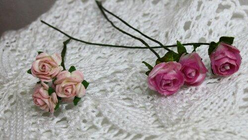Маленькие цветочки - розы для куколок и декора. Мастер ...  Цветочки Розы