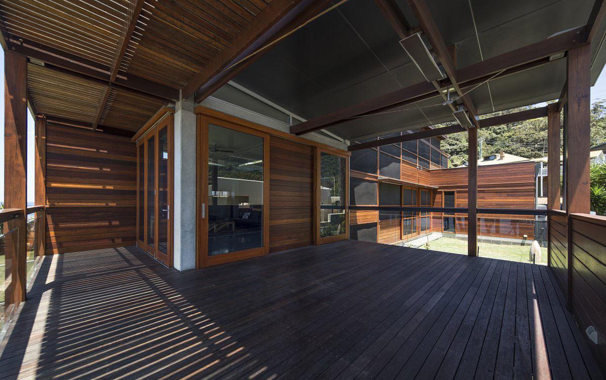 Indyk Architects, South Coast Residence, дом в городе Коолклифф, частный дом на берегу моря, дом на побережье Австралии, строгий дизайн интерьера фото