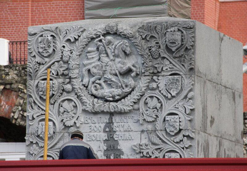 Монтаж обелиска в Александровском саду. 25.10.2013