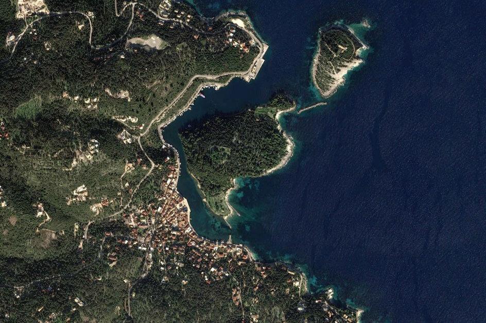 Порт Гайос, остров Паксос. Вид сверху.