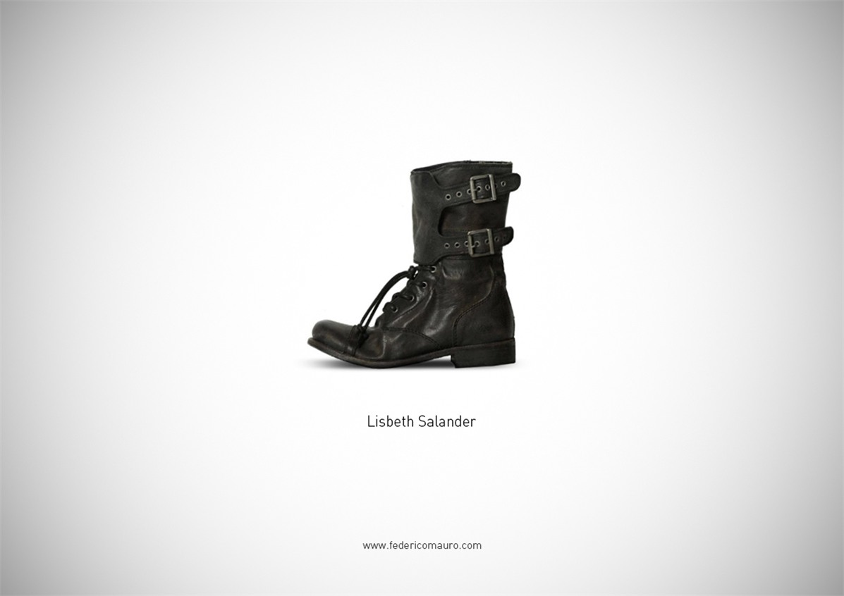 Знаменитая обувь культовых персонажей / Famous Shoes by Federico Mauro - Lisbeth Salander