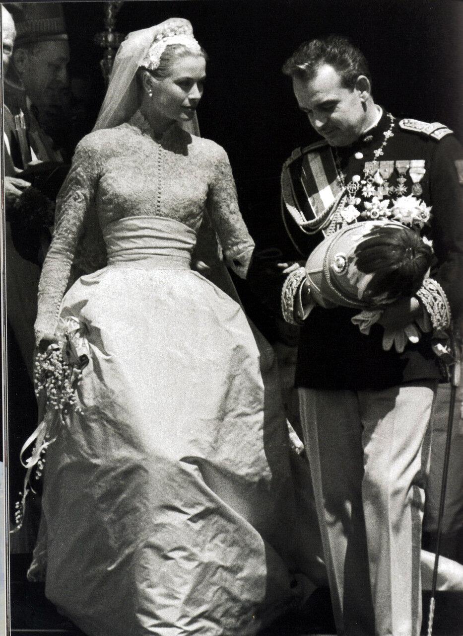 1956. Свадьба Грейс Келли и князя Монако Ренье III