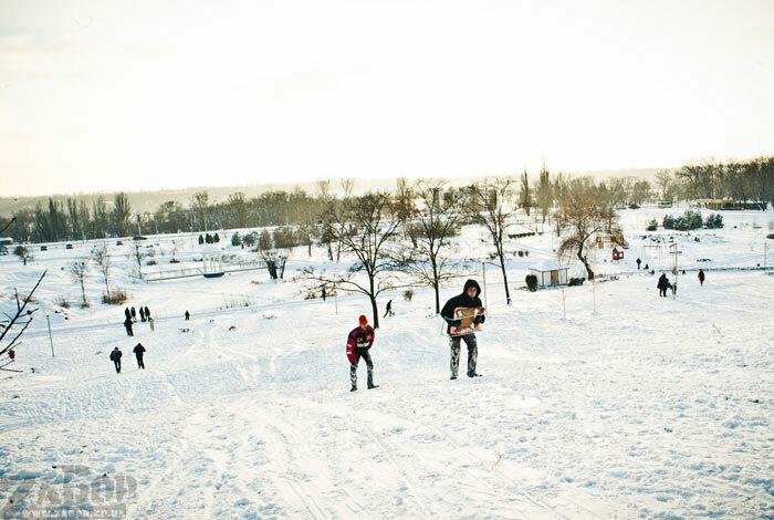Вознесеновский спуск, Радуга Запорожье, зима