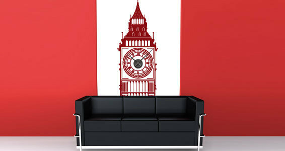 Декоративные наклейки на стены - часы
