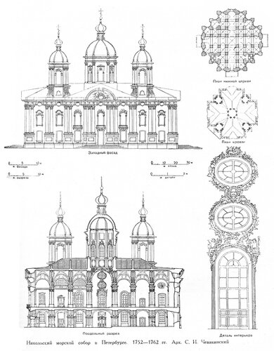 Никольский морской собор в Санкт-Петербурге, чертежи