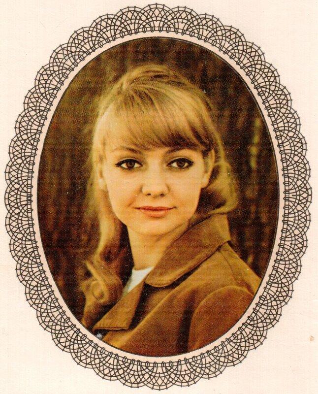 Переводная картинка из ГДР девушка Regina Beyer 1975
