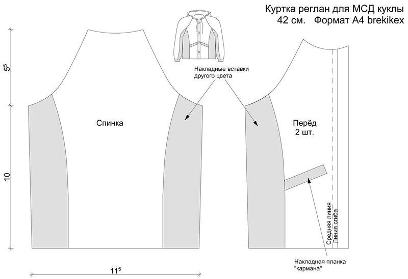 Выкройка мужская куртка с рукавом реглан выкройка