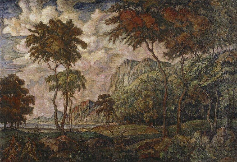 Пейзаж с деревьями. 1924.jpg