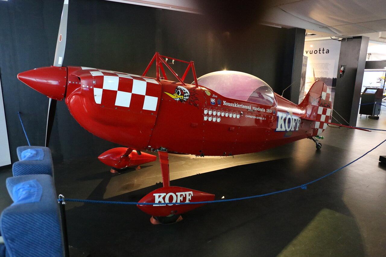 Авиамузей Хельсинки-Вантаа.  Aviat,  Finnish Aviation Museum.  Aerobaic  biplane Christen Eagle II, пилотажный самолет