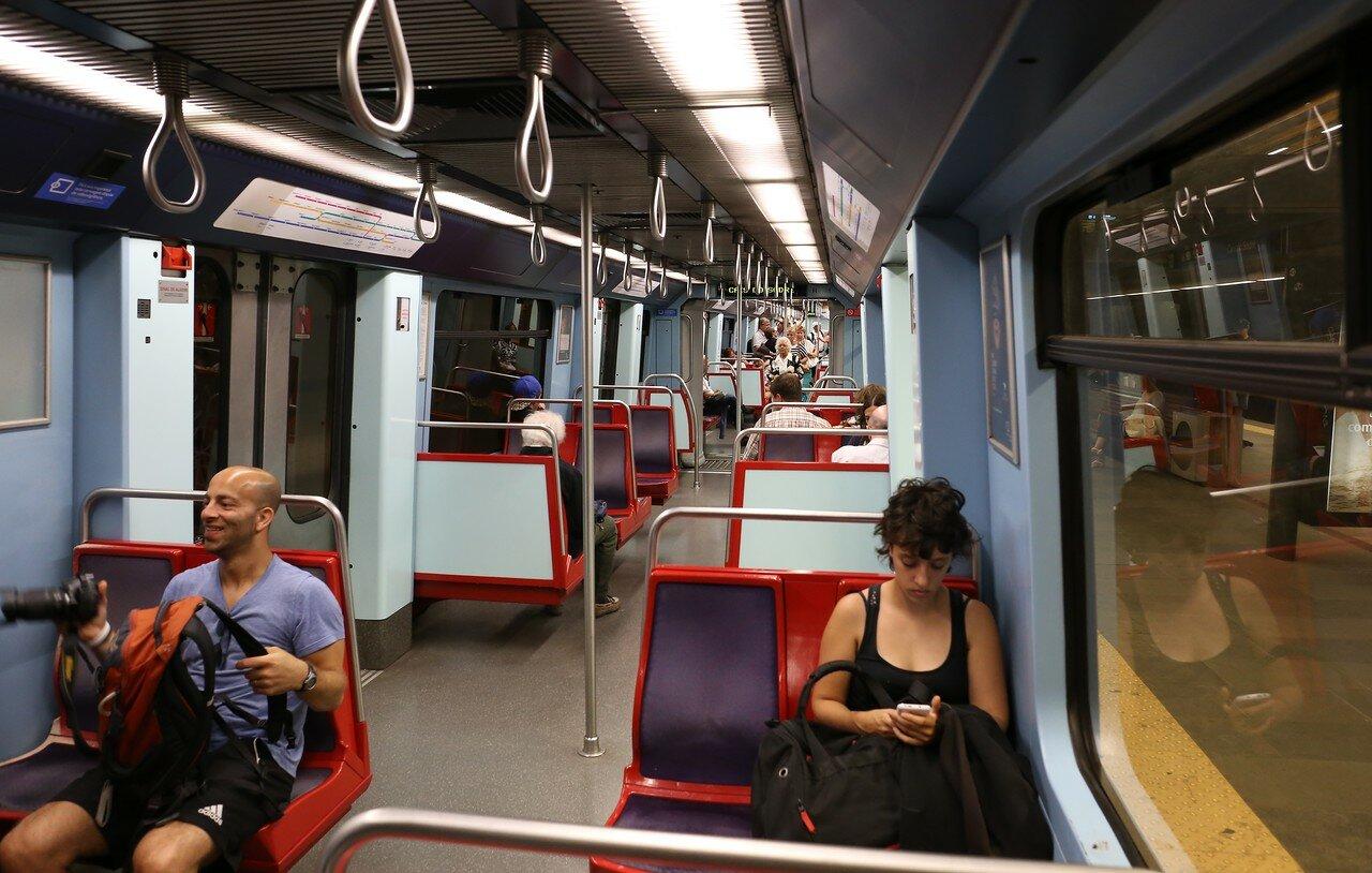 The Lisbon metro