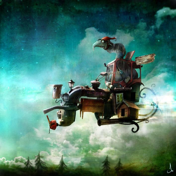 Сказочная скандинавска5a8я магия в иллюстрациях Александра Дженсона / Alexander Jansson