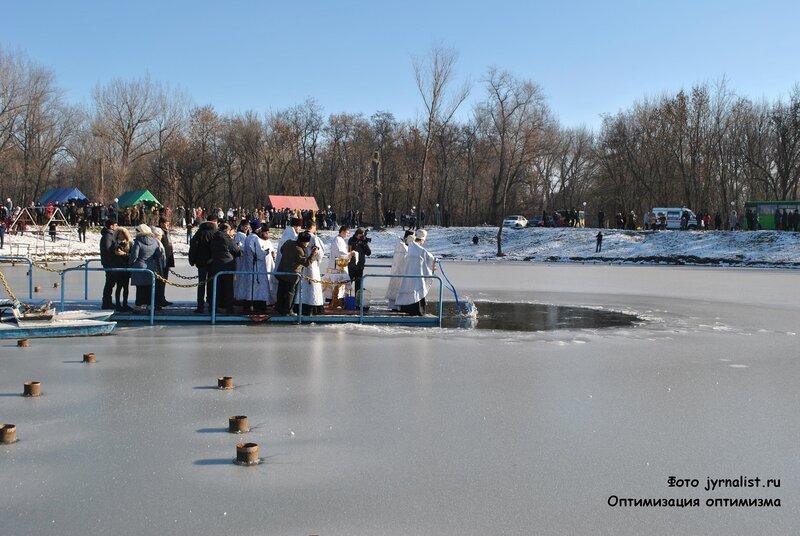 крещение 2014 год озеро восьмерка луганск