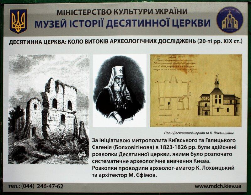 Начало археологических исследований Десятинной церкви