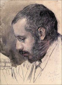 Константин Сомов. Портрет художника А.Н.Бенуа 1895 г.