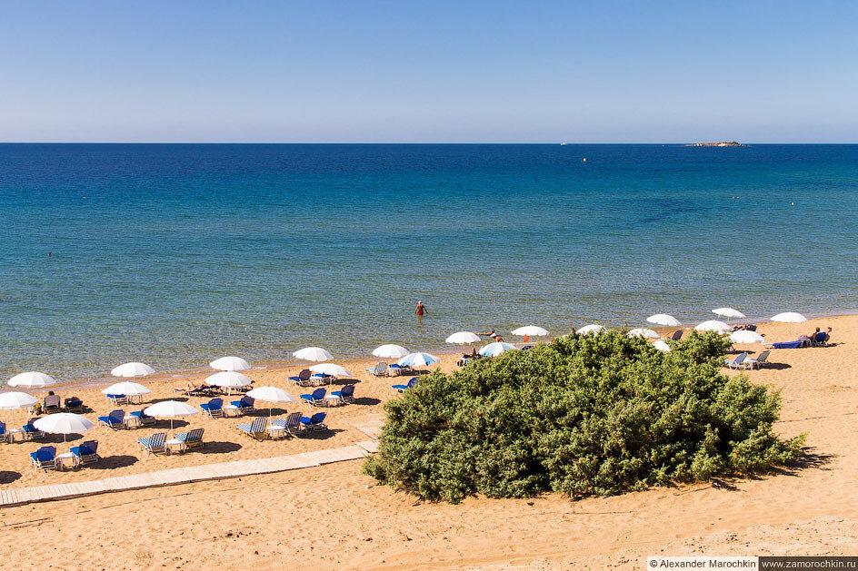 Пляж Иссос, мелководье