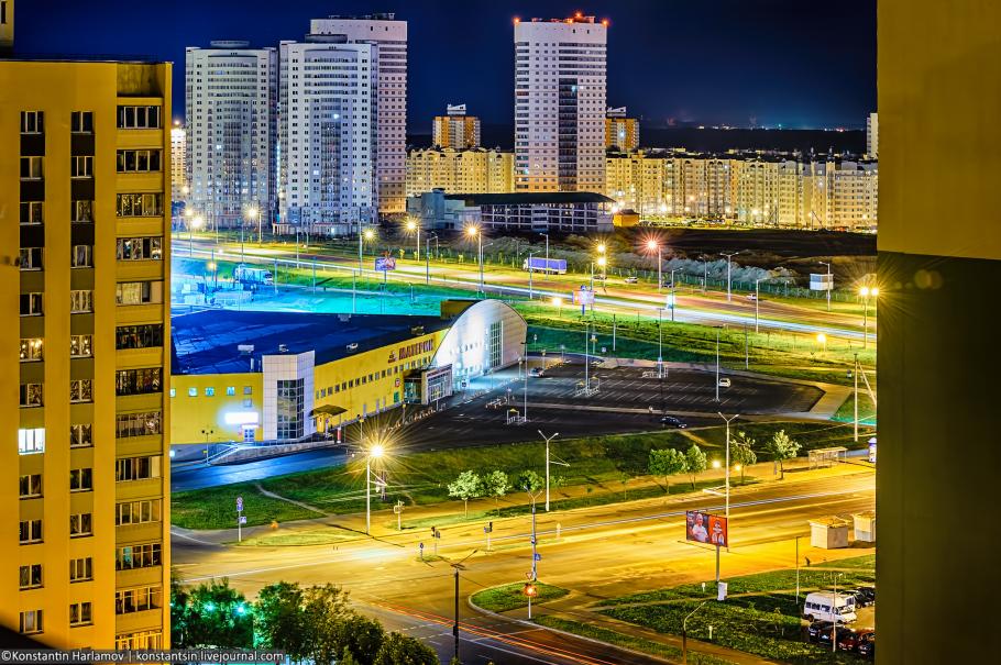 ночной Минск, ночная Каменная горка, ночная Кунцевщина, Каменная горка, Кунцевщина, Запад, ночные фотографии