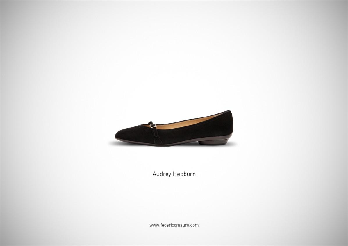 Знаменитая обувь культовых персонажей / Famous Shoes by Federico Mauro - Audrey Hepburn