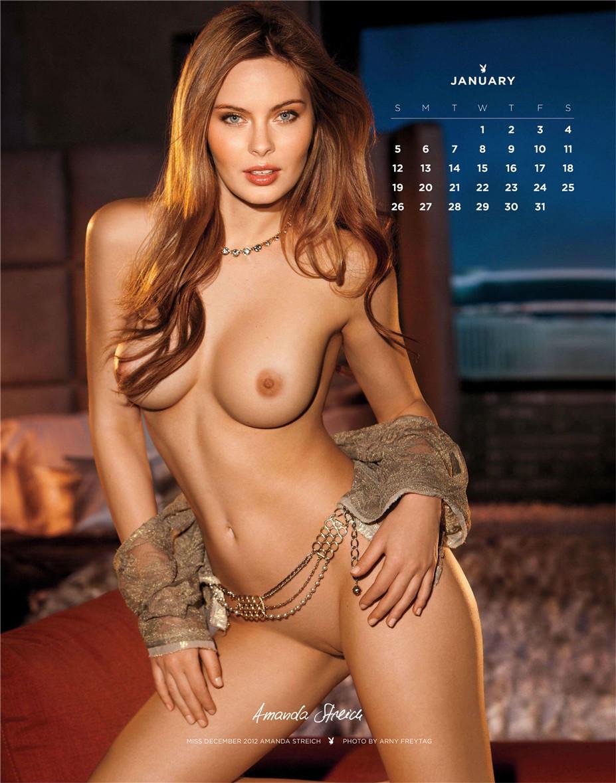 january - Playboy USA playmate calendar 2014 / Amanda Streich - Miss December 2012