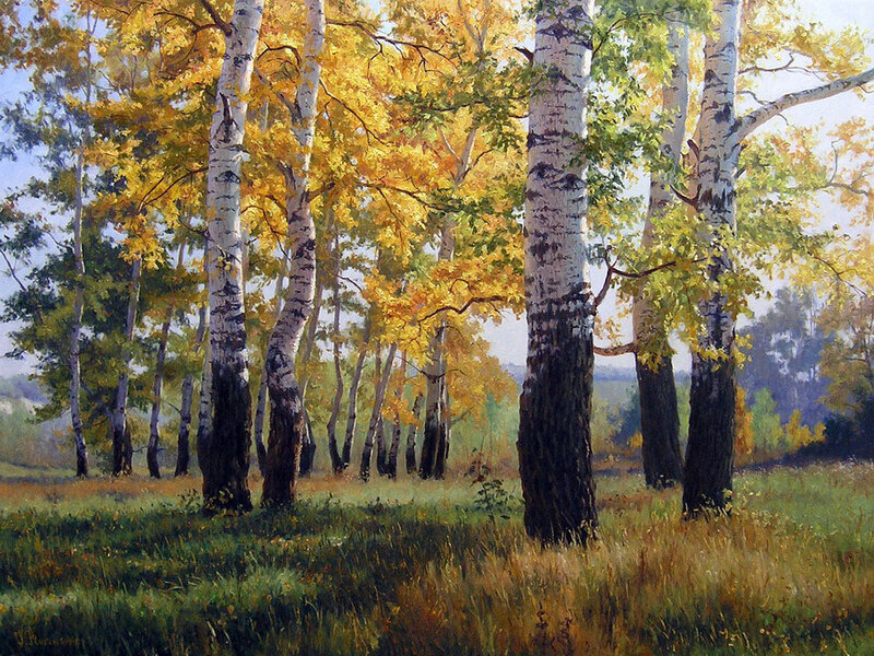 Pictures sanatsal boyama doğanın güzelliği gennadiy kirichenko
