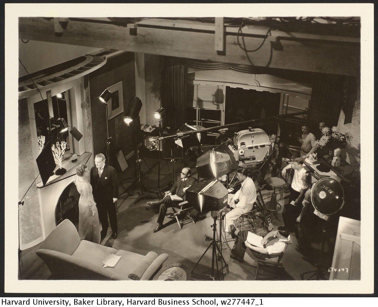1929. Съемки фильма на студии MGM
