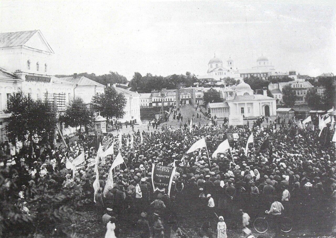 Митинг на центральной площади. 1917