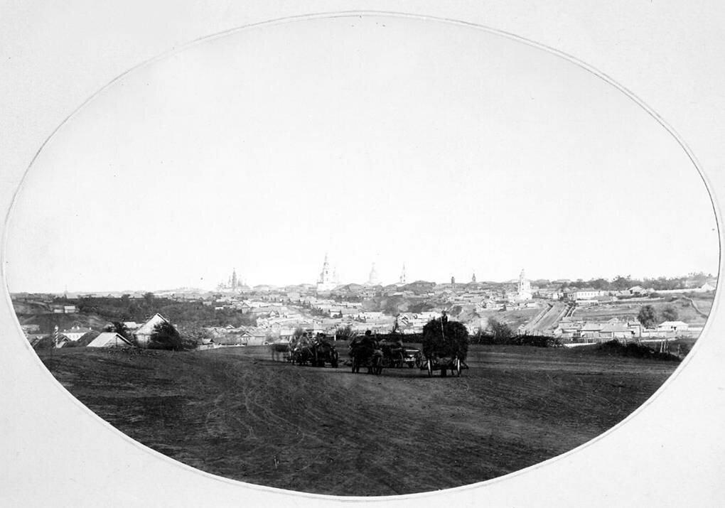 Панорама Симбирска с запада. 1866