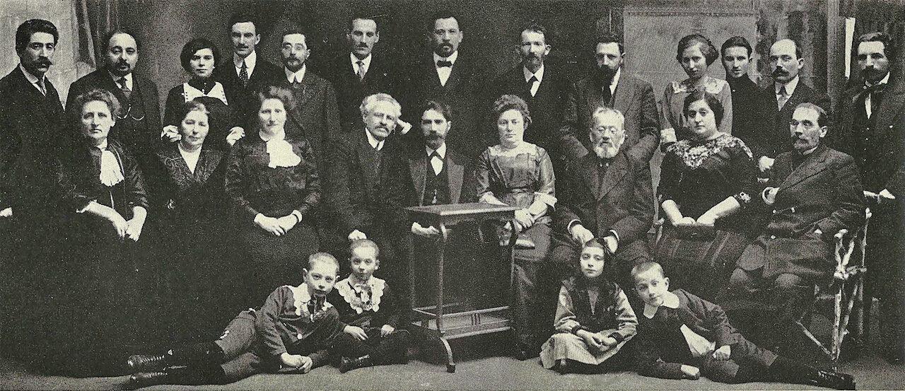 Минские сионисты проводят прощальную вечеринку для отъезжающего в Палестину Иегуды Лейба Бергера в 1912