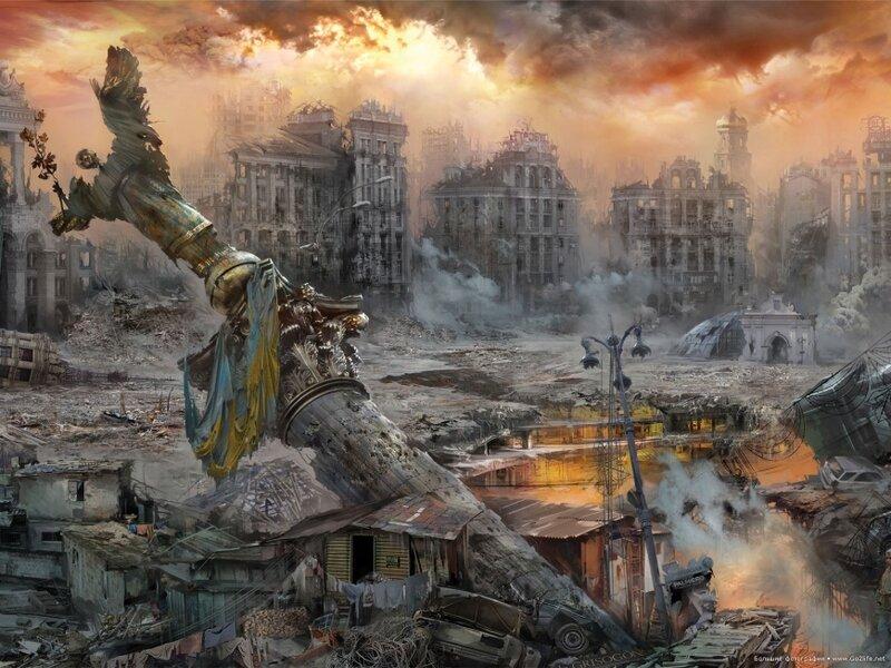 Апокалипсис? Художники изображали будущее Киева еще в 2012 году