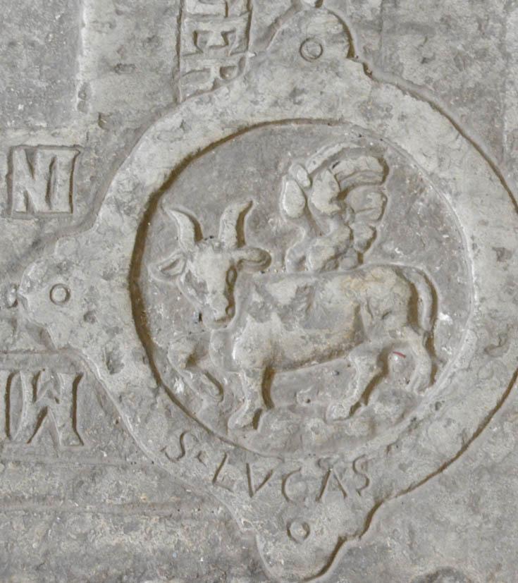 Символ Евангелиста на надгробии из Таллина