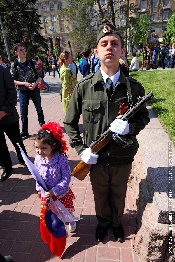 площадь Павших Борцов Волгоград празднование Дня Победы