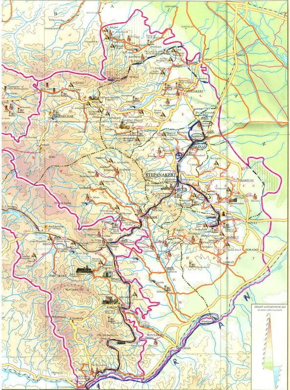 Карабах-2014. Карабах-2014. Карты, мой маршрут.jpg