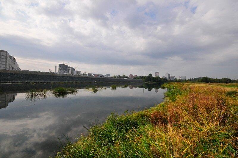 Река Миасс в Челябинске (25.07.2013)