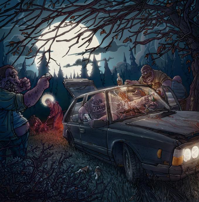 Польский иллюстратор Michal Dziekan / Михал Дзикан. Хоррор о нашей жизни.