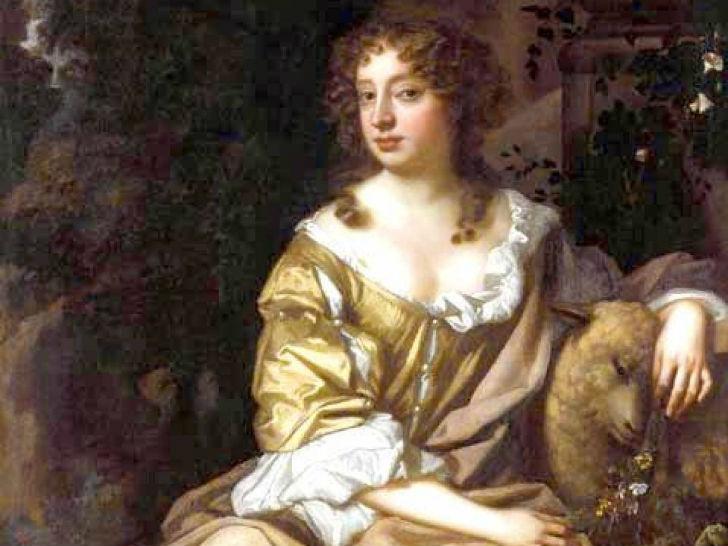 Нелл Гвин была известной фавориткой короля Англии Карла II, которому родила двух сыновей. В юности Н