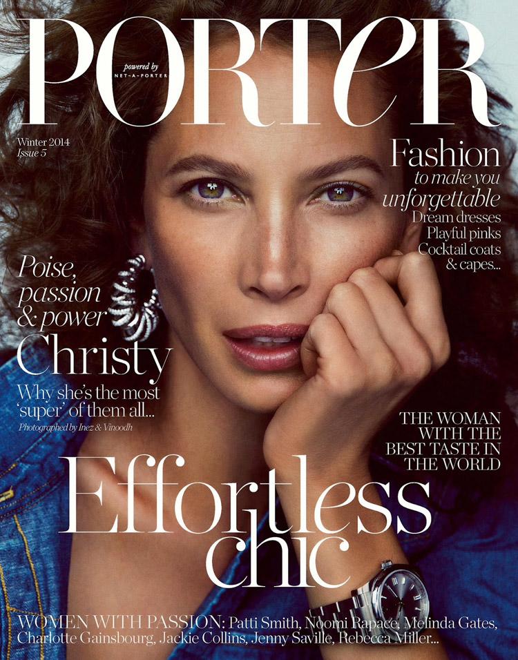 Кристи Терлингтон (Christy Turlington) в журнале Porter