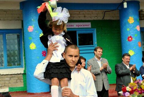 первое сентября в сельской школе в Муратово