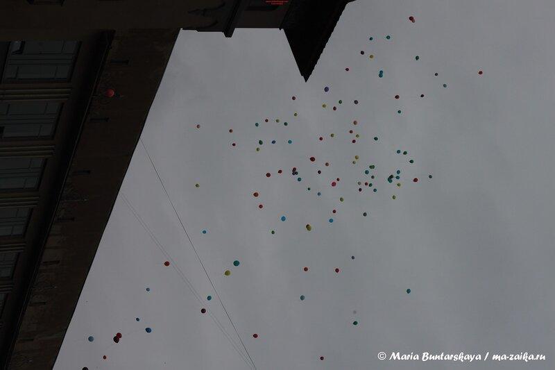Шествие работников культуры и воспитанников учреждений доп. образования, Саратов, проспект Кирова, 05 сентября 2013 года