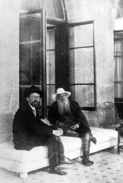 Л. Н. Толстой и А. П. Чехов, Крым, 1901 год