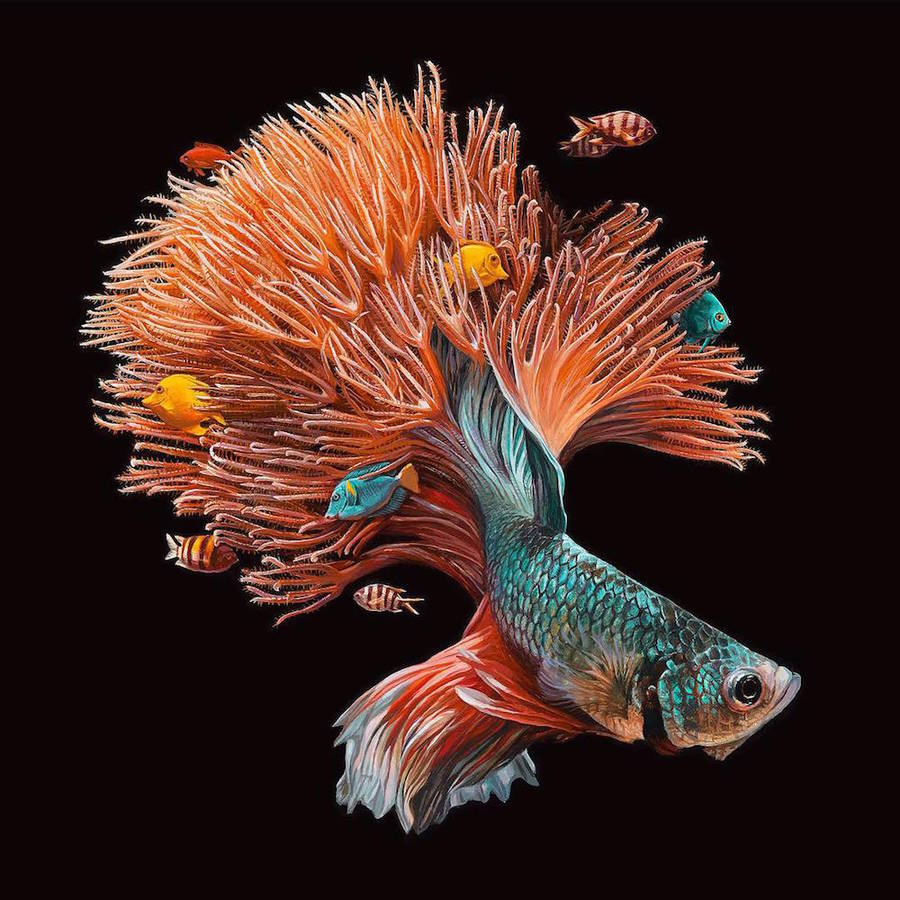 Hyperrealistic Paintings of Fishes and their Environment
