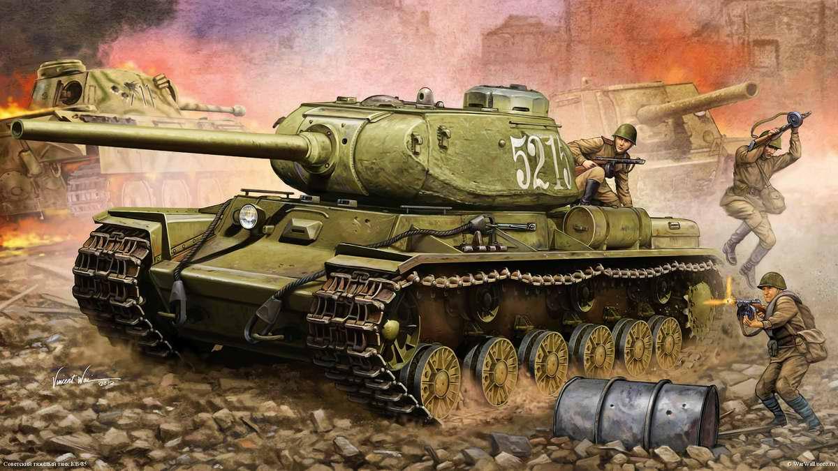 Советский тяжелый танк КВ-85 (Vincent Wei)