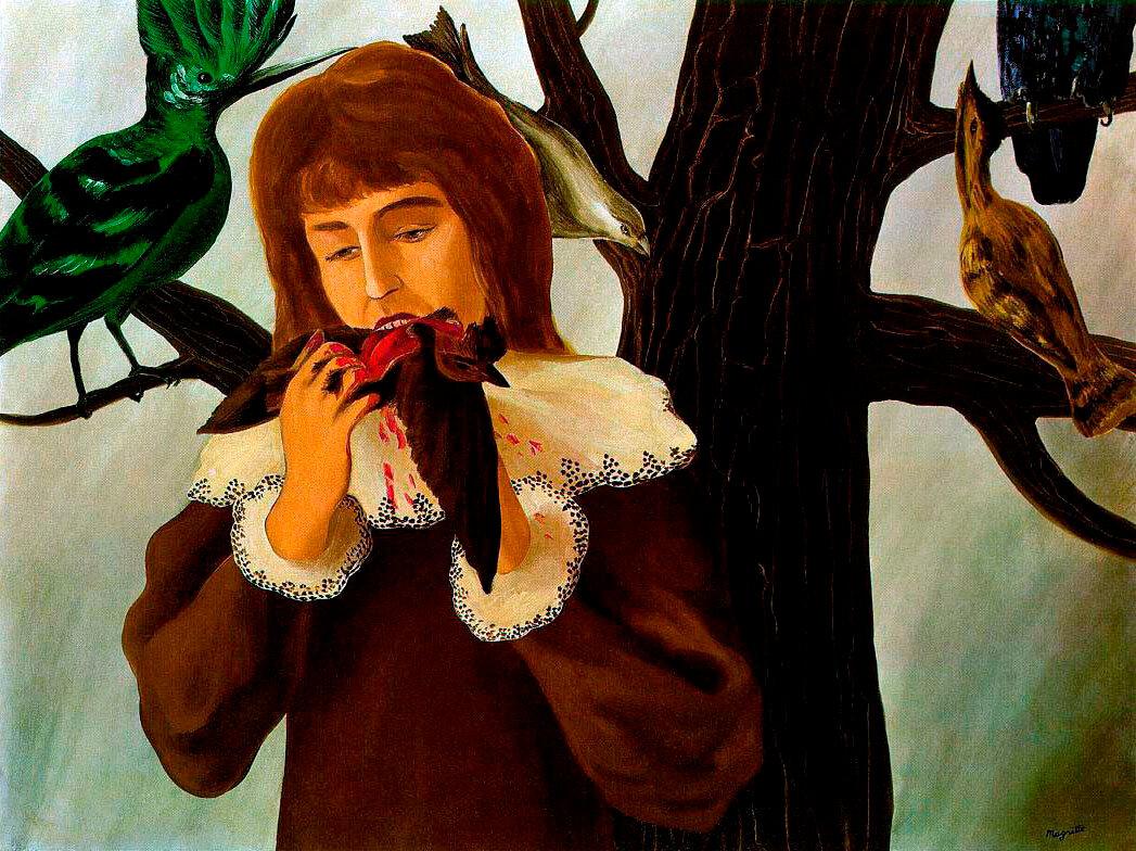 Удовольствие - Девушка, которая ест птицу